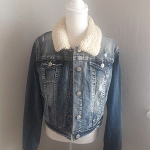 WALLFLOWER VINTAGE DISTRESSED JEAN JACKET